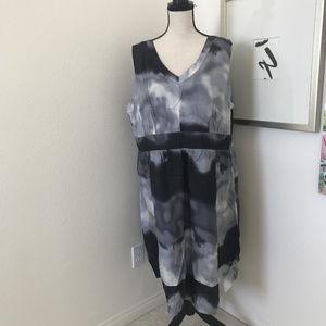 🌹🌹Avenue Plus size Dress Tie Dye 100% Silk Sz 24